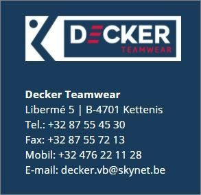 Decker Teamwear und die KTSV Eupen
