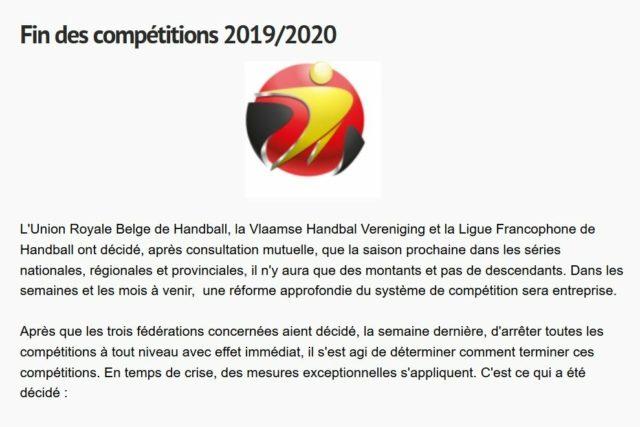 Wichtige Neuigkeiten zur Meisterschaft 2020-2021