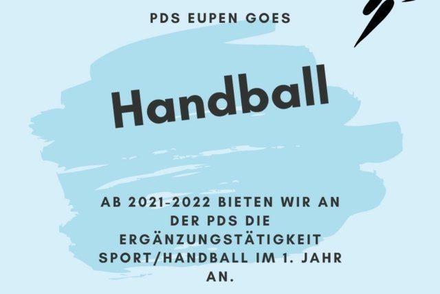 Sport-Handball an der Pater-Damian-Sekundarschule